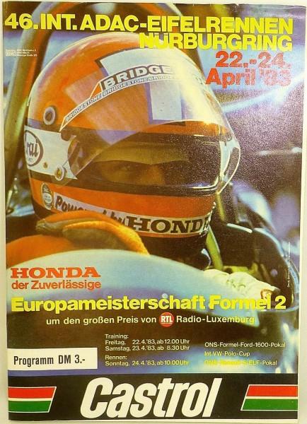 22.-24. APRIL 1983 46. Int. ADAC Eifelrennen Nürburgring PROGRAMMHEFT VIII04 å *