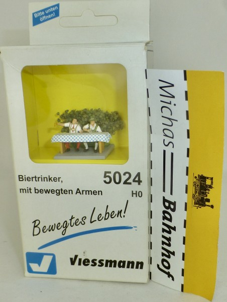Biertrinker mit bewegten Armen Viessmann 5024 H0 1:87 OVP LJ2 å