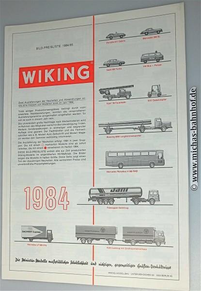WIKING Katalog 1984/85 å *