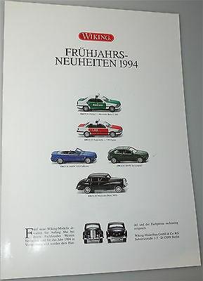 Frühjahrs Neuheiten 1994 WIKING Neuheitenblatt å *