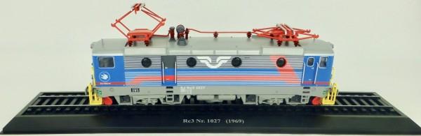 Elektrolok Re3 Nr. 1027 1969 H0 1:87 Standmodell auf Sockel Atlas 7153119 LIH µ
