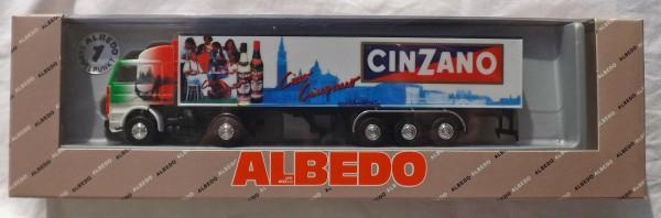 Scania 142 M Cinzano Albedo Koffer-Sattelzug OVP H0 1:87 å