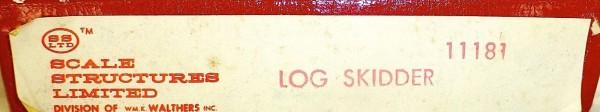 Log Skidder Kit Bausatz ungebaut Scale Structures Limited 11181 H0 1:87 OVP å *