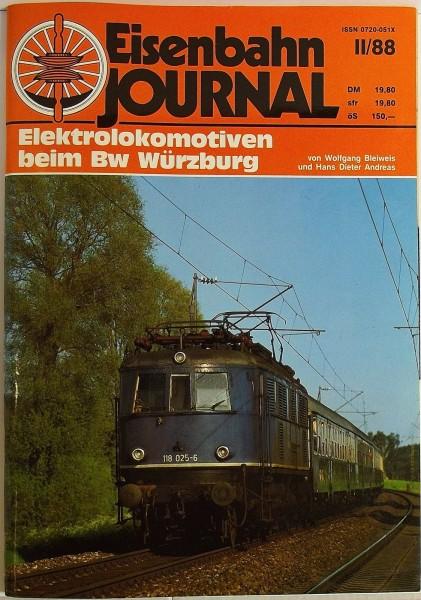 Eisenbahn Journal Elektrolokomotiven beim Bw Würzburg II/88 å