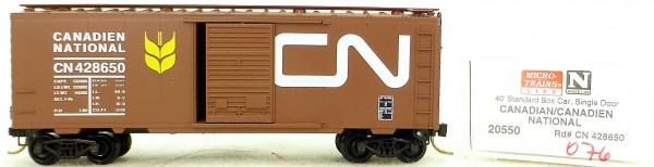 Micro Trains Line 20550 Canadian National 428650 40' St. Boxcar 1:160 OVP #H076 å