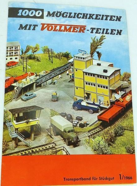 Transportband für Stückgut Vollmer 1000 Möglichkeiten mit Teilen 1/1966 å *