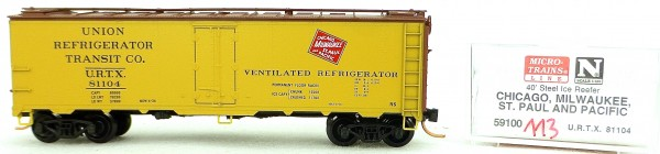 Micro Trains Line 59100 URTX 81104 40' Steel Ice Reefer 1:160 OVP #i113 å