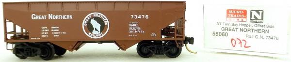Micro Trains Line 55060 Great Northern 73476 33' Twin Bay Hopper OVP 1:160 #K072 å
