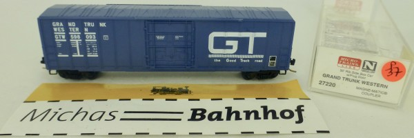Grand Trunk West 50' Rib Side Boxcar 598093 Micro Trains Line 27220 1:160 P37 å