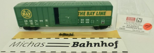 Atlanta St Andrews 50' Rib Side Boxcar 7208 Micro Trains Line 25630 1:160 P11 å