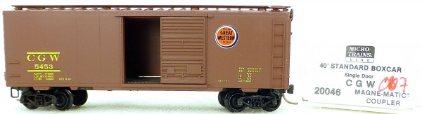 Micro Trains Line 20046 CGW 5453 40' Standard Boxcar 1:160 OVP #H007 å
