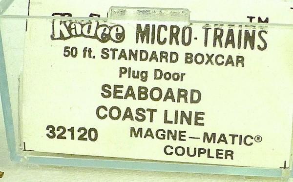 50´ Standard Boxcar SEABOARD COAST LINE Micro Trains Line 32120 N 1:160 C å*