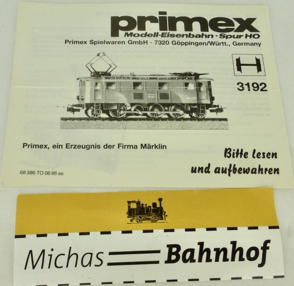 3192 Primex Märklin Anleitung å