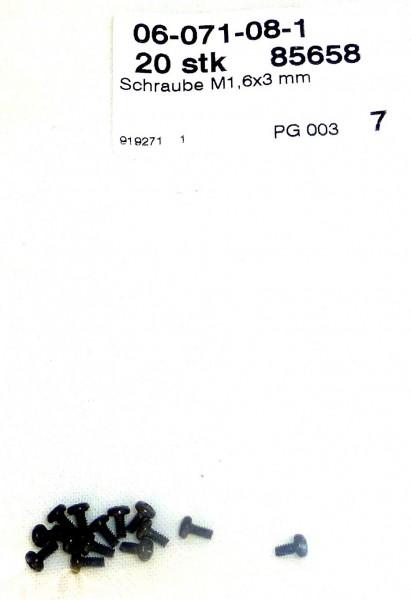 20 Stück Schrauben für Weichenantrieb Roco 85658 # µ LF2