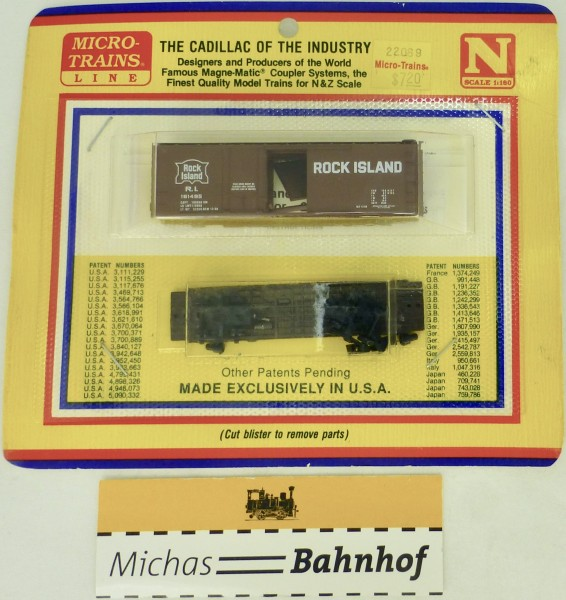 BLISTER KIT Rock Island 161495 Boxcar Bausatz Micro Trains 22069 N 1:160 HC6 å