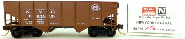 Micro Trains Line 56170 New York Central 838495 33' Twin Hopper OVP 1:160 #K156 å