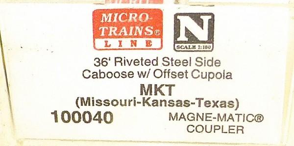 Micro Trains Line 100040 MKT 36' Riveted Steel Caboose 1:160 #F å*