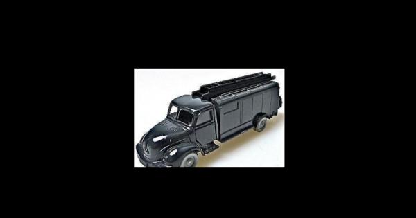 Feuerwehr Werkstattwagen schwarz Magirus 3500 Rundhauber IMU 1/87 Replika #300#
