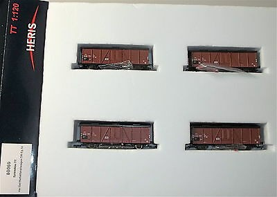 4er Set Behelfskaliwagen DR Ep4 HERIS 80069 TT 1:120 HM4 å *