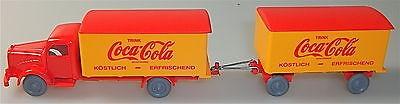 Coca Cola Mercedes 5000 Hängerzug rot orange IMU H0 1:87 #34# å