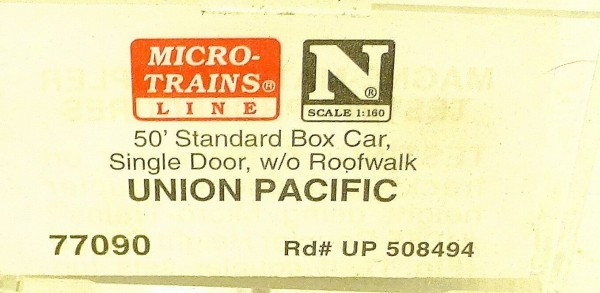 Micro Trains Line 77090 Union Pacific 508494 50´ Box Car 1:160 OVP #E å *