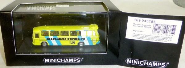 """""""ARGENTINIEN"""" Fußball-WM 1974 Mercedes-Benz O302 Minichamps 1/160 OVP # µ"""