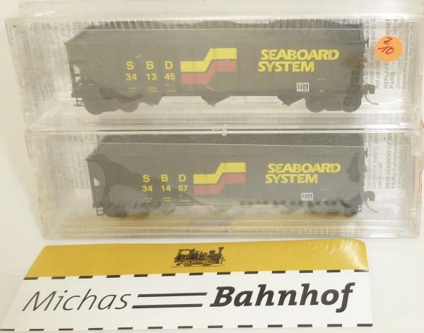 2-tlg Micro Trains 108052 Seaboard System 100 Ton 3-Bay Hopper OVP 1:160 #Z10 å