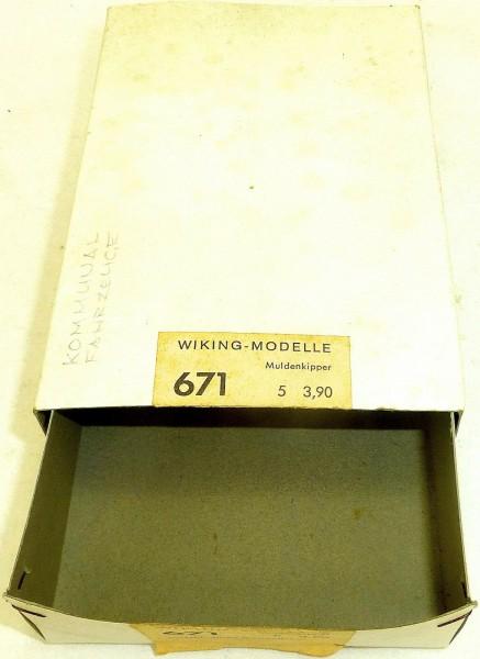 Muldenkipper Wiking Modelle Leerkarton Karton Wiking 671 H0 1:87 å *
