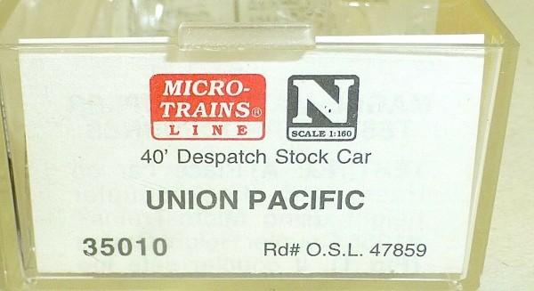 Micro-Trains Line 35010 Union Pacific 40' Despatch Stockcar N 1:160 A å *