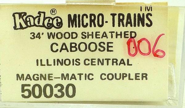 Micro Trains Line 50030 Illinois Central 9403 34' Caboose 1:160 OVP 006G å *