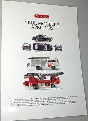 Neue Modelle April 1996 WIKING Neuheitenblatt å *