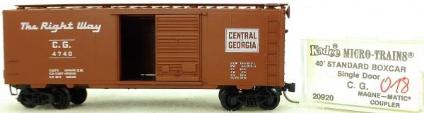 Micro Trains Line 20920 C.G. 4740 40' Standard Boxcar 1:160 OVP #H018 å