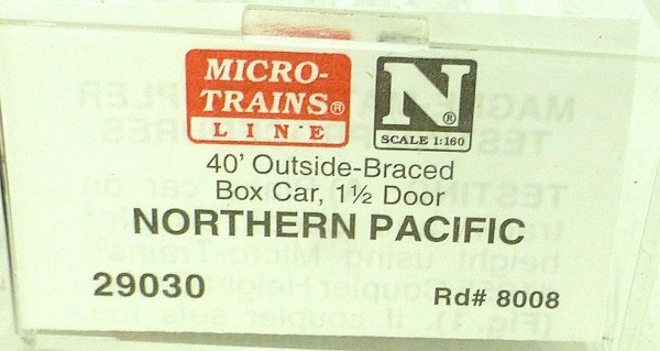 40´ Outside Br Boxcar NORTHERN PACIFIC 8008 Micro Trains Line 29030 N 1:160 C å*