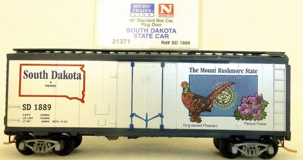 South Dakota State 40 Box Car Plug Door Microtrains Line 21371 N 1:160 HV3 å*