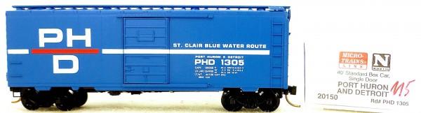 Micro Trains Line 20150 Port Huron Detroit 1305 40' St. Boxcar 1:160 OVP #H115 å