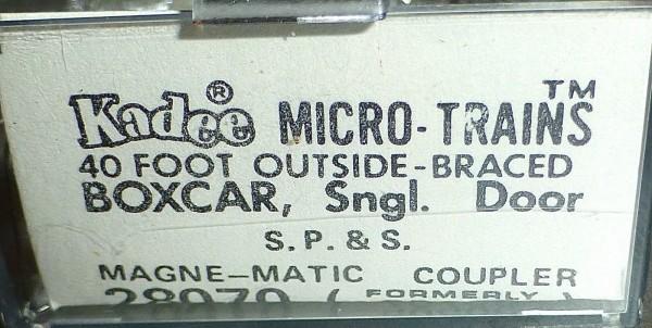 40´ Outside Braced Boxcar S.P.S. 10228 Micro Trains Line 28070 N 1:160 C å*