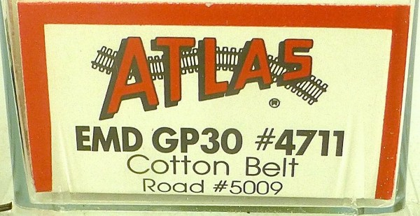 ATLAS 4711 KATO EMD GP30 Cotton Belt Road 5009 Diesellok N 1:160 OVP ∑ å *