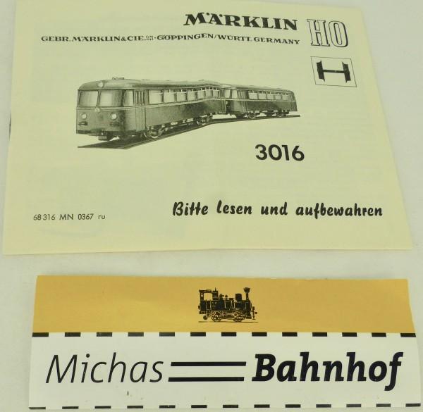 3016 Anleitung Märklin 68 316 MN 0367 ru H0 å