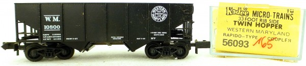 Micro Trains Line 56093 Western Maryland 10800 33' Twin Hopper OVP 1:160 #K165 å