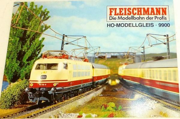 H0 Modellgleis Prospekt mit Gleisplänen Fleischmann 9900 FNN 583 H0 1:87 HB5µ*