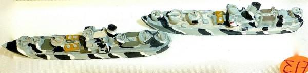 2 x M051 Tarnlackierung Schiffsmodell 1:1250 SHP∑17 å *