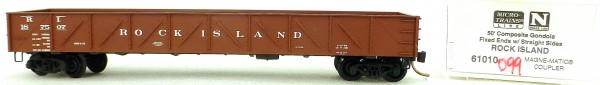 Micro Trains Line 62010 Rock Island 187507 50' Gondola Fix Ends 1:160 OVP #i099 å