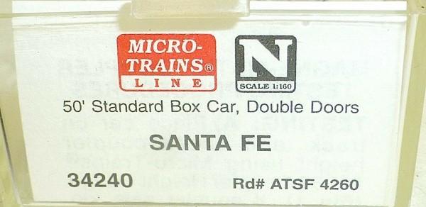 Micro-Trains Line 34240 Santa Fe 50' Standard Box Car N 1:160 A å*