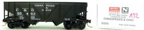 Micro Trains Line 57070 Chesapeake O 55463 33' Twin Bay Hopper 1:160 OVP #i132 å