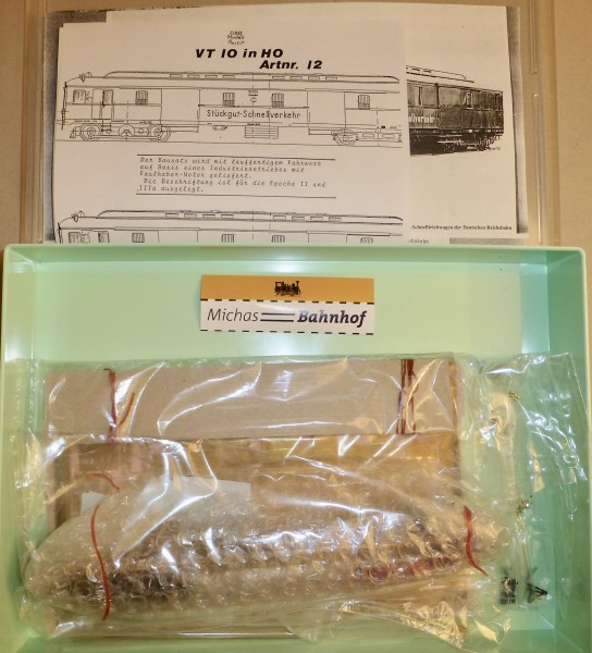 DRG MODELL No 12 VT 10 Bausatz ungebaut H0 1:87 å *