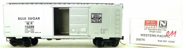 Micro Trains Line 20076 W.P. 15299 40' Standard Boxcar 1:160 OVP #H011 å
