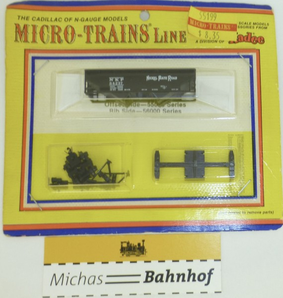BLISTER KIT Offset Side Nickel Pate Road 64237 Bausatz Micro Trains 55199 1:160 HC6 å