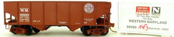 Micro Trains Line 56090 Western Maryland 10803 33' Twin Hopper OVP 1:160 #K143 å
