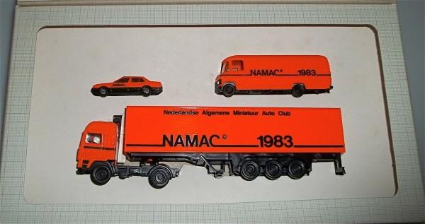 NAMAC Niederlandse Algemene Miniatuur Auto Club 3-tlg. Werbepackung von 1983 å√