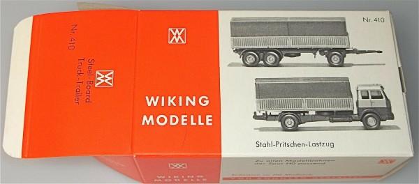 Stahl Pritschen Lastzug Karton leer Wiking 410 å *